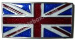 UNION JACK FLAG - GLITTER BELT BUCKLE + display stand
